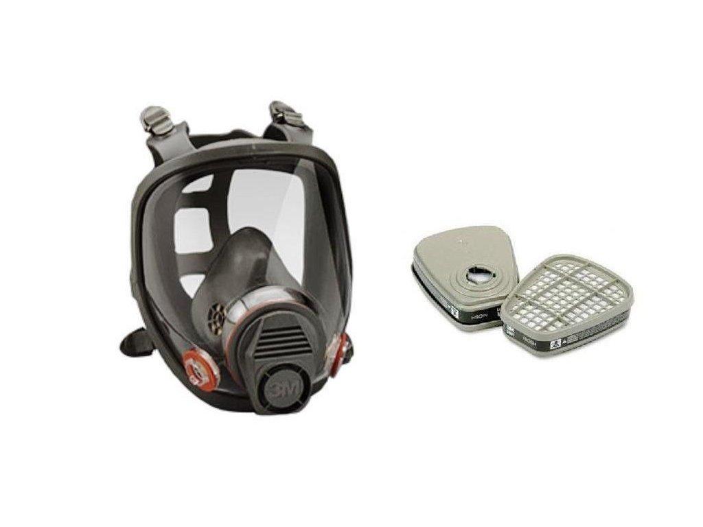 Plynová maska celoobličejová 3M