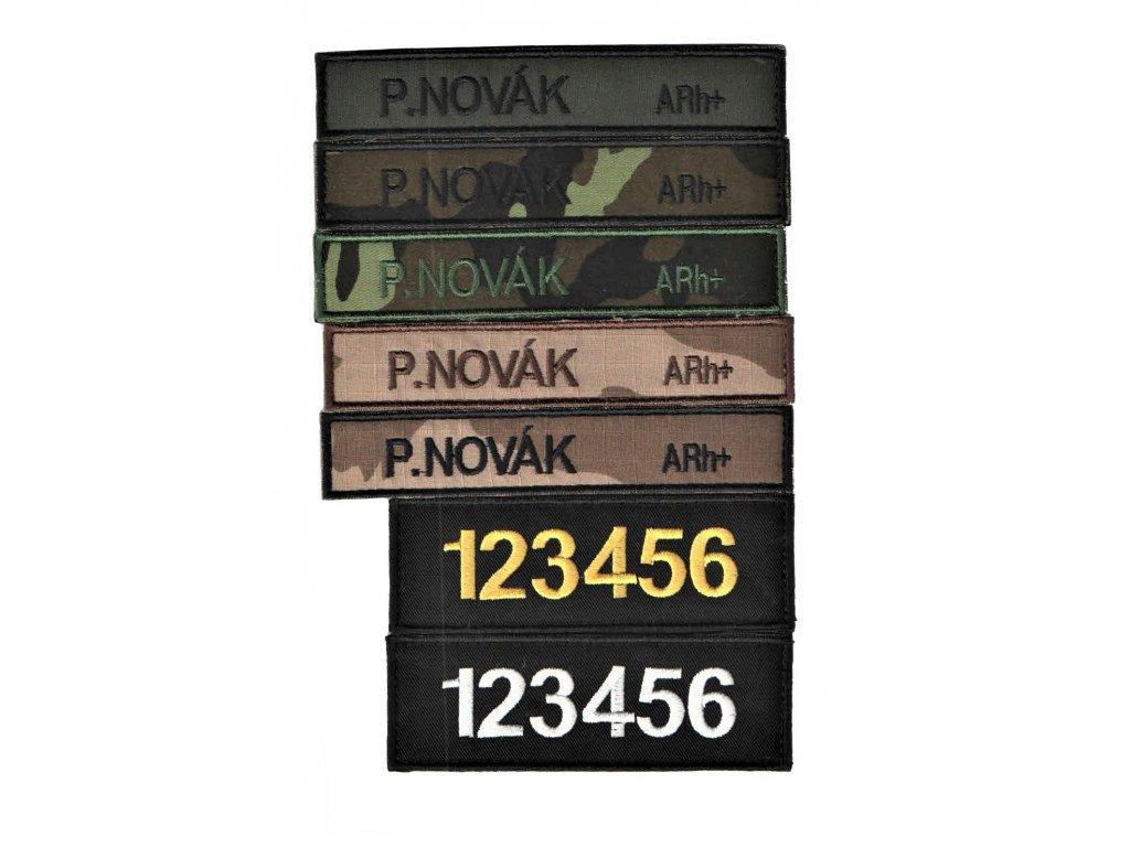 vojenske-jmenovky-2ks-civilni-sada-acr-b-21