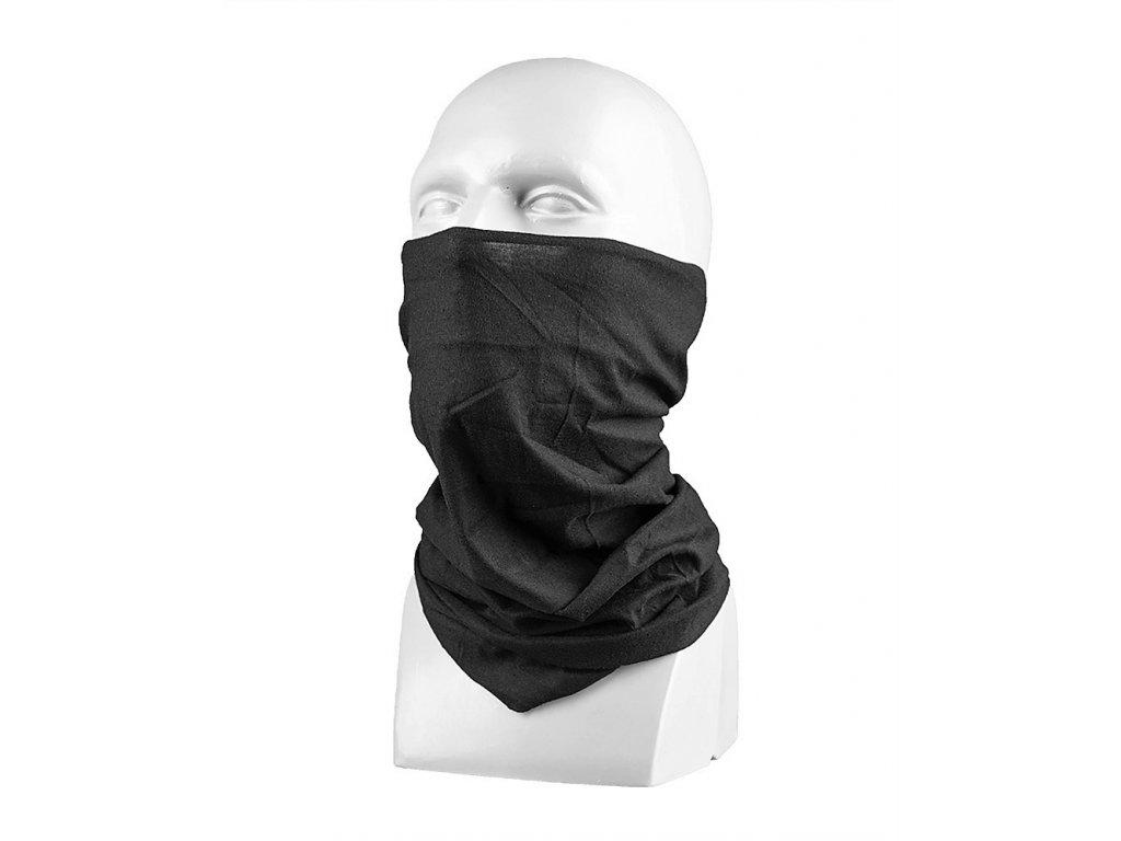 Nákrčník Miltec černý (multifunkční šátek)