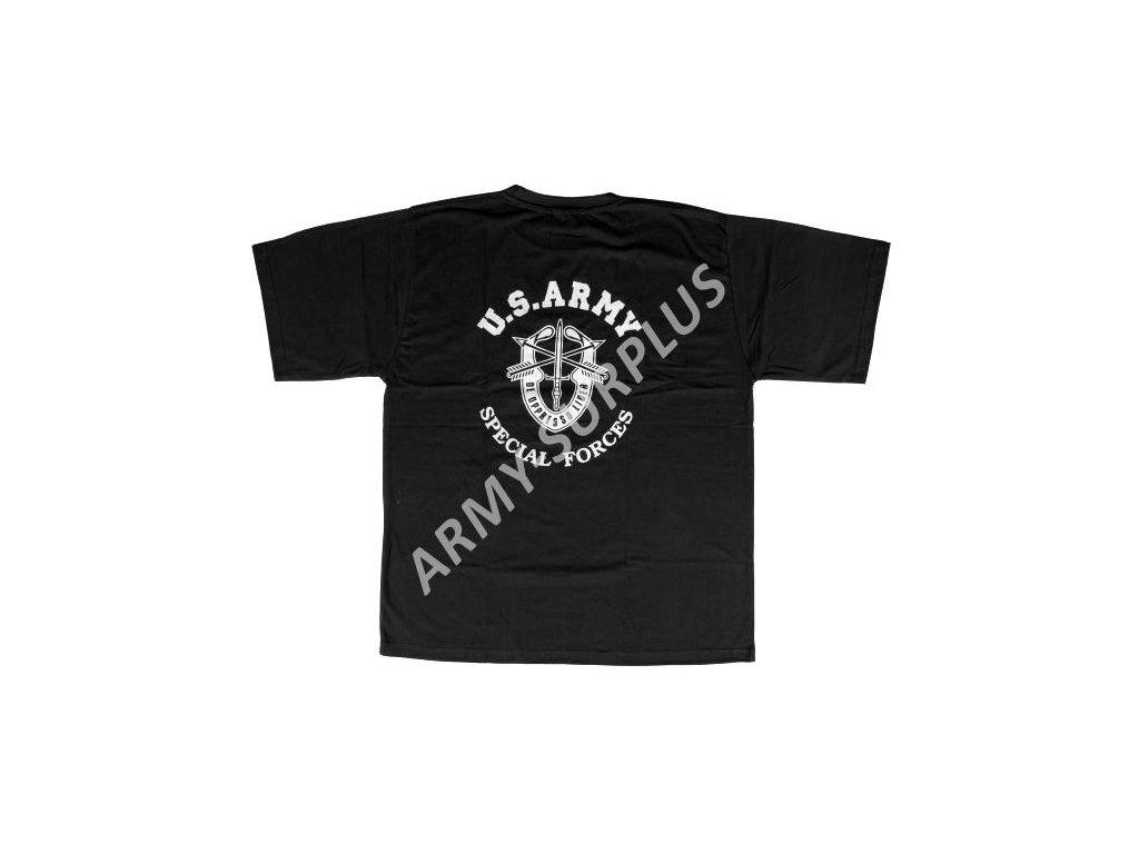 Tričko (triko) potisk černé Special Forces
