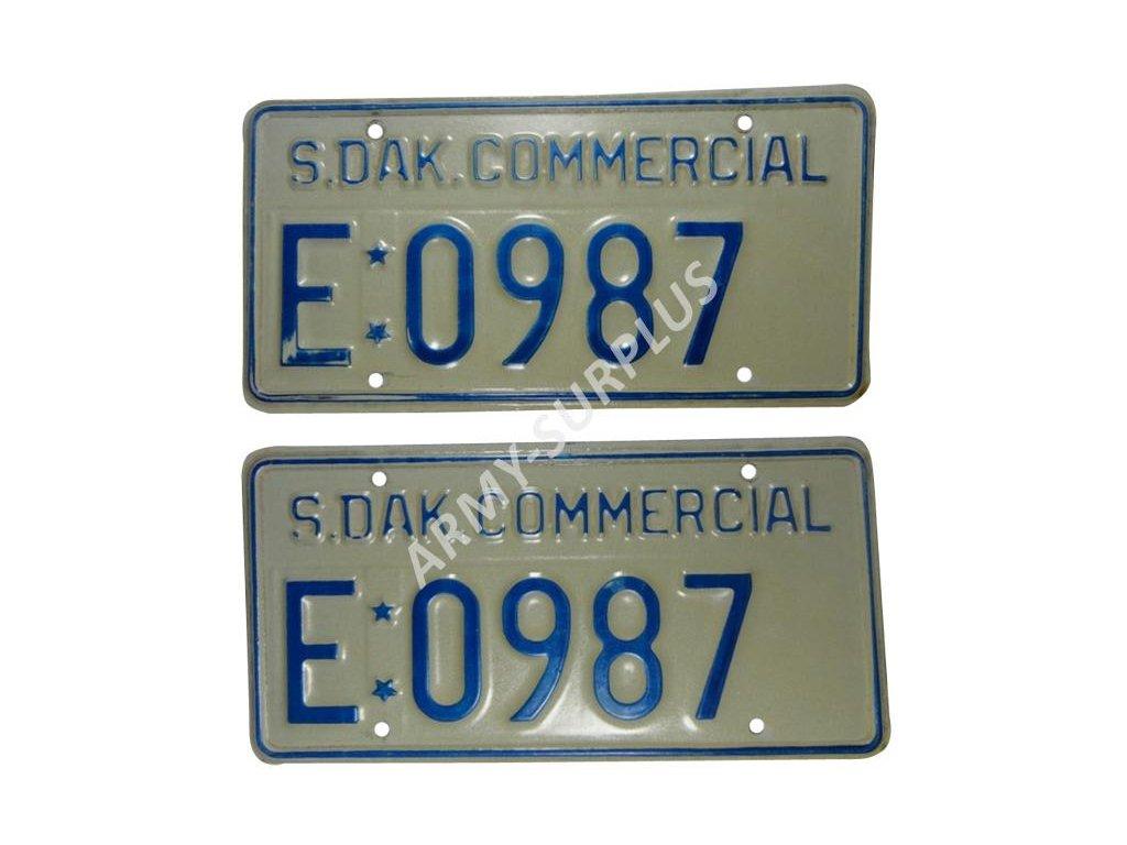 Poznávací značka na auto (License Plates) USA South Dakota