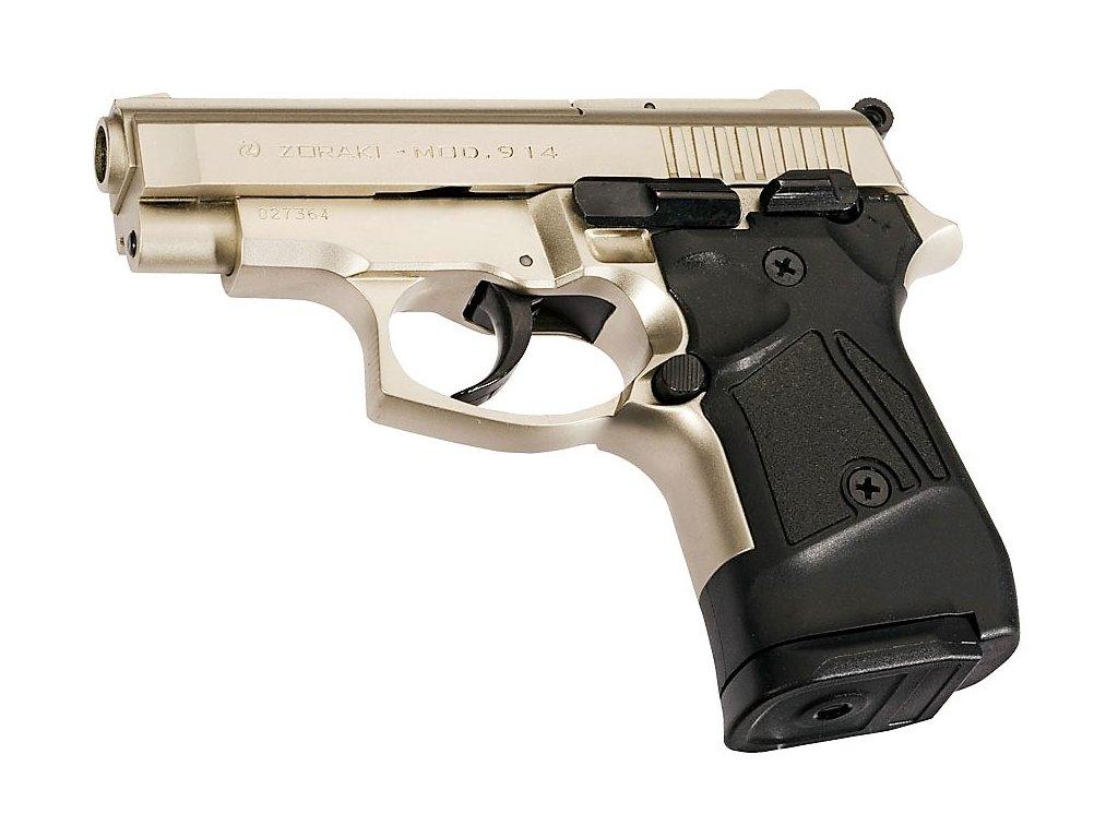 Plynová (expanzní) pistole ATAK ZORAKI 914 9mm PAK matný chrom