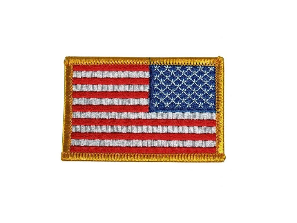 Nášivka vlajka USA - nažehlovací