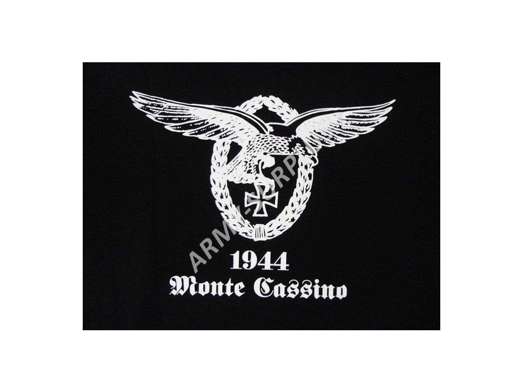 b8337cbbb01 Tričko (triko) potisk Monte Cassino černé - ARMY-SURPLUS
