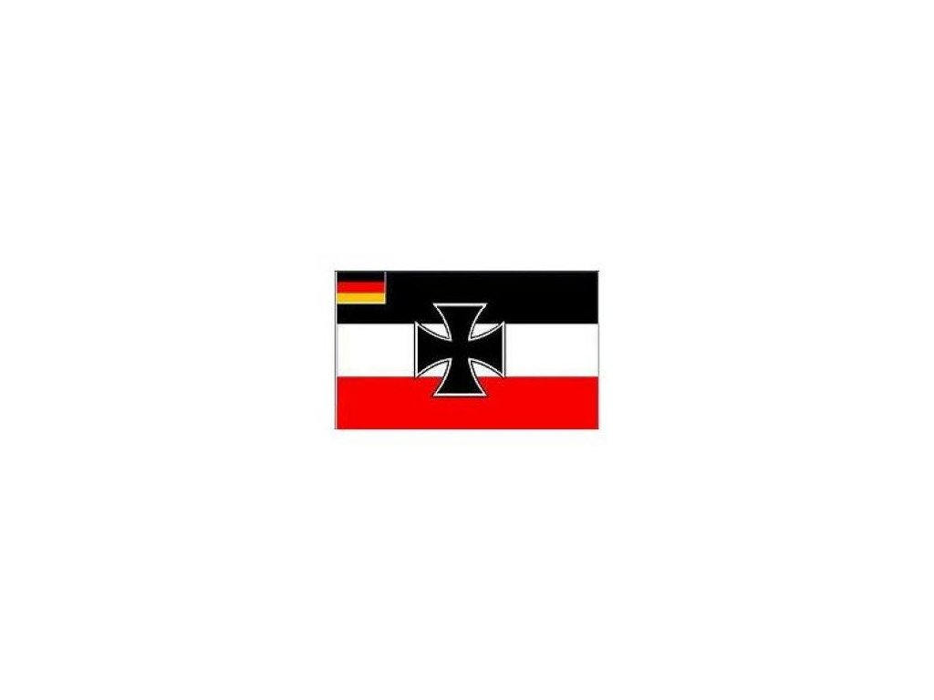 Vlajka Německo s křížem 90x150cm č.70