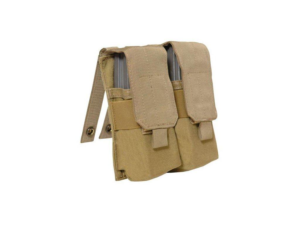 Sumka US molle na 2 zásobníky M4-M16-AK47 double Mag Pouch universal coyote USMC TAC SHIELD,EAGLE INDUSTRIES originál