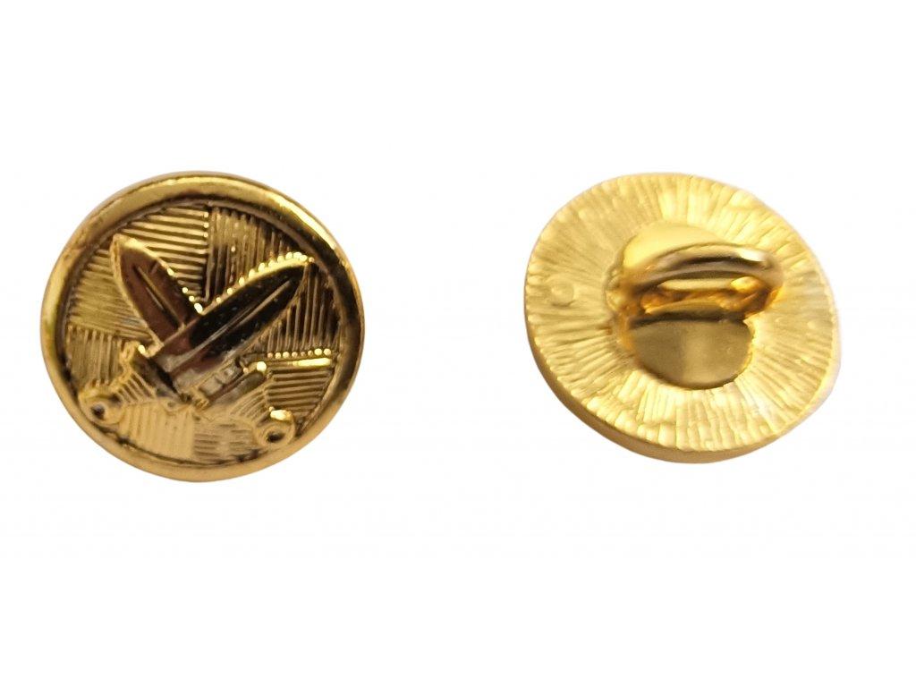 Knoflík AČR malý zlatý na výložky a brigadýrku