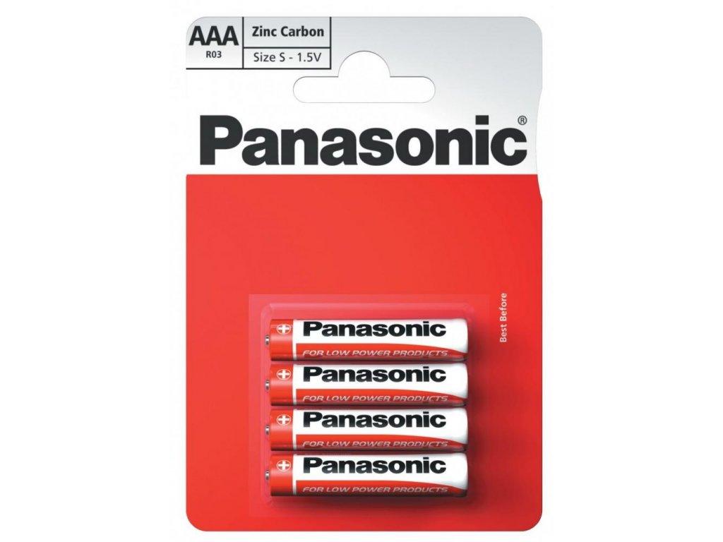 Baterie Panasonic AAA 1,5V R03 mikrotužkové