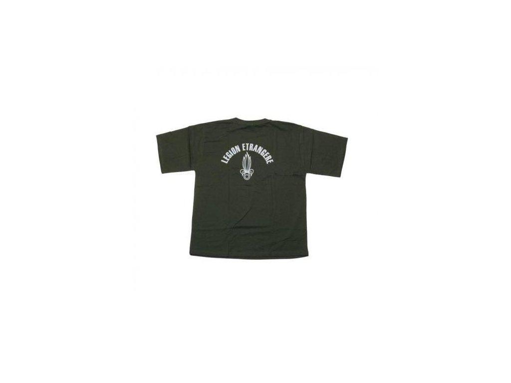 Tričko (triko) potisk Legion Etrangere oliv