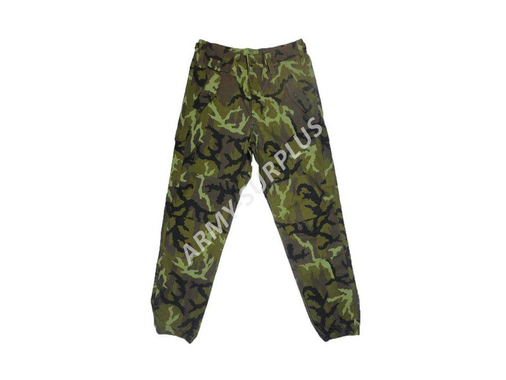 d64b5b82b2f Kalhoty AČR vz.95 letní se zeleným potiskem ripstop použité - ARMY ...
