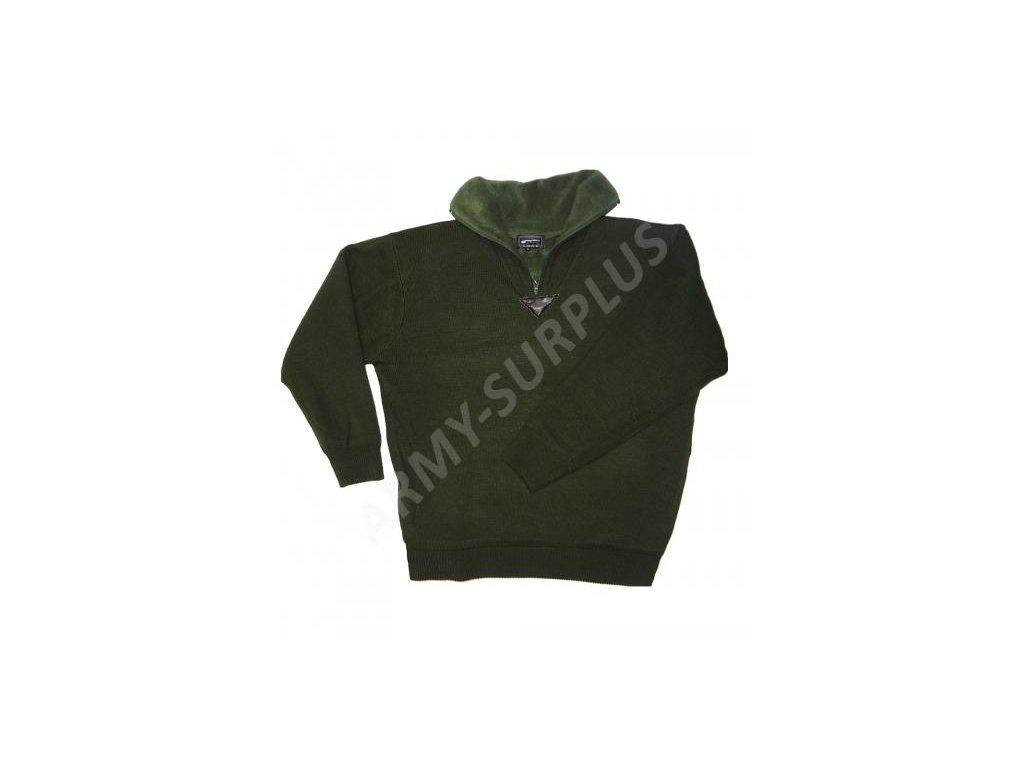 Svetr M-Meistr zelený - fleece