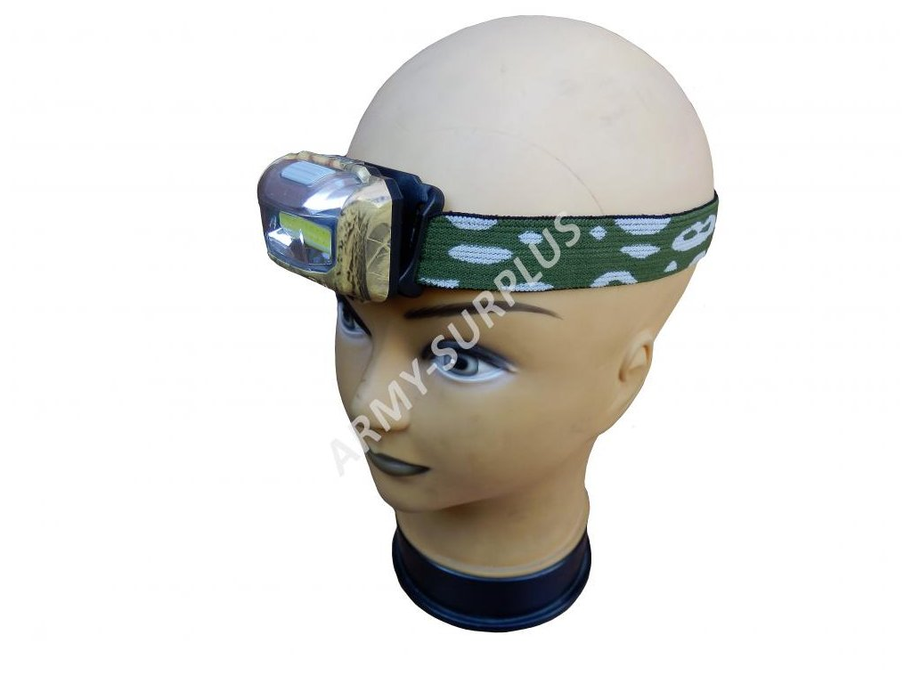 Baterka čelovka CREE XPE +COB LED 3w 110 Lumens