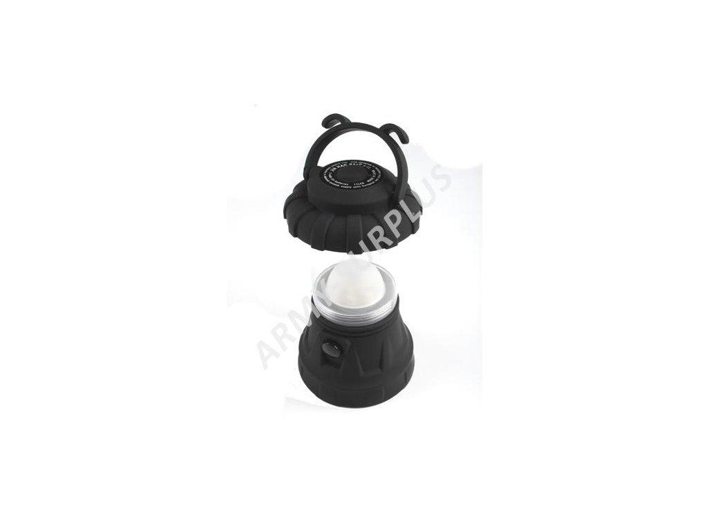 Svítilna LED lampa kempingová černá