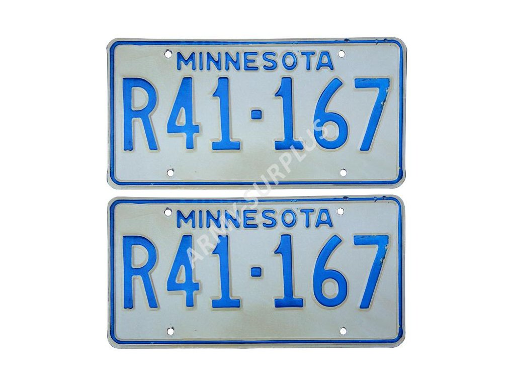 Poznávací značka na auto (License Plates) USA Minnesota 2 kusy