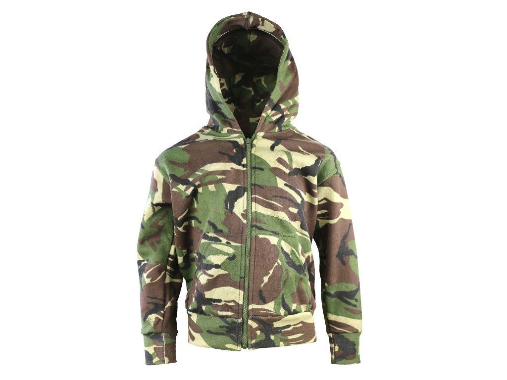 e4d6e7fb50f0 Mikina dětská fleece s kapucí DPM woodland Velká Británie Kombat ...