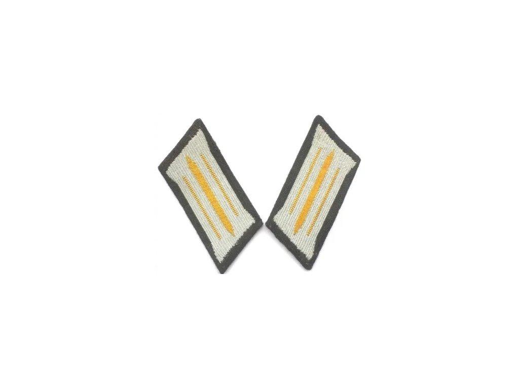 Nášivka NVA zrcadýlka (collar tabs) spojaři (signal) žluté