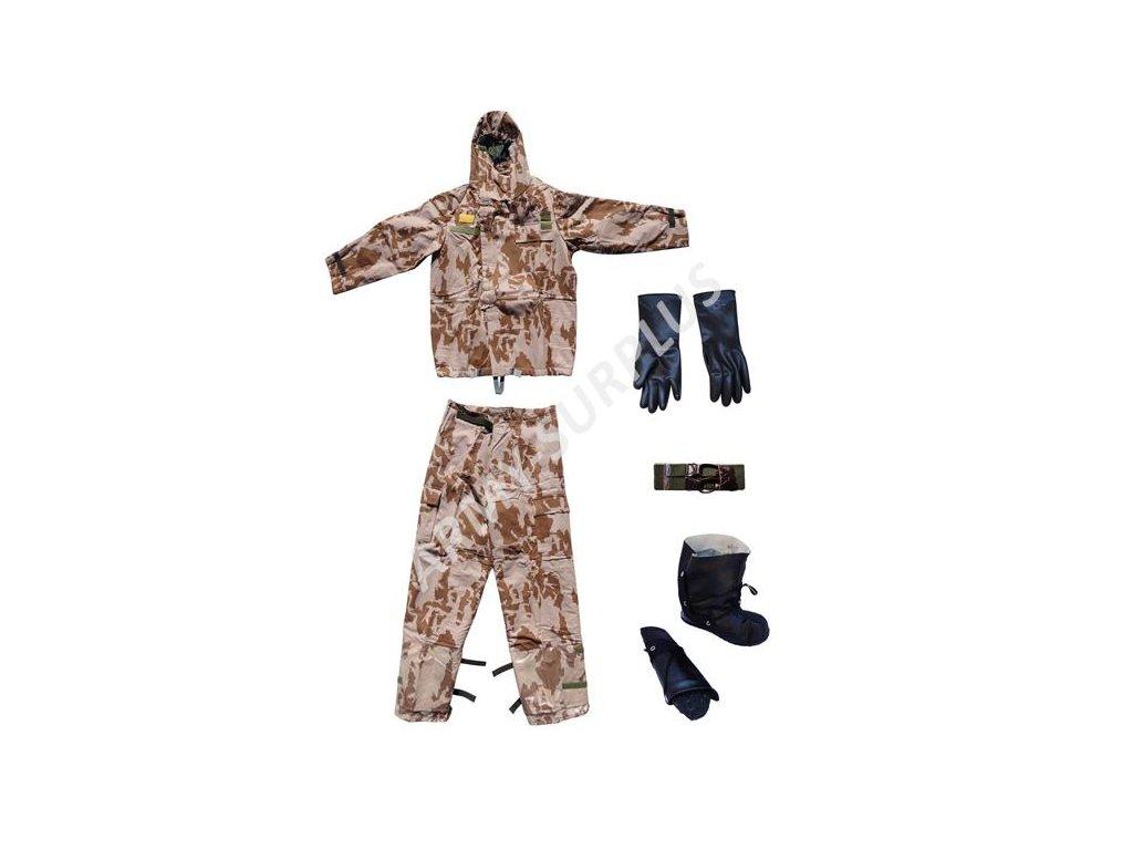 Protichemický oblek vz 95 béžový pouštní AČR (Filtrační ochranný oblek FOP 96)