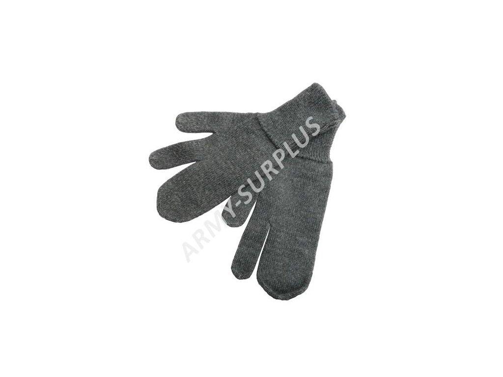 Rukavice Švédsko tříprsté zimní pletené