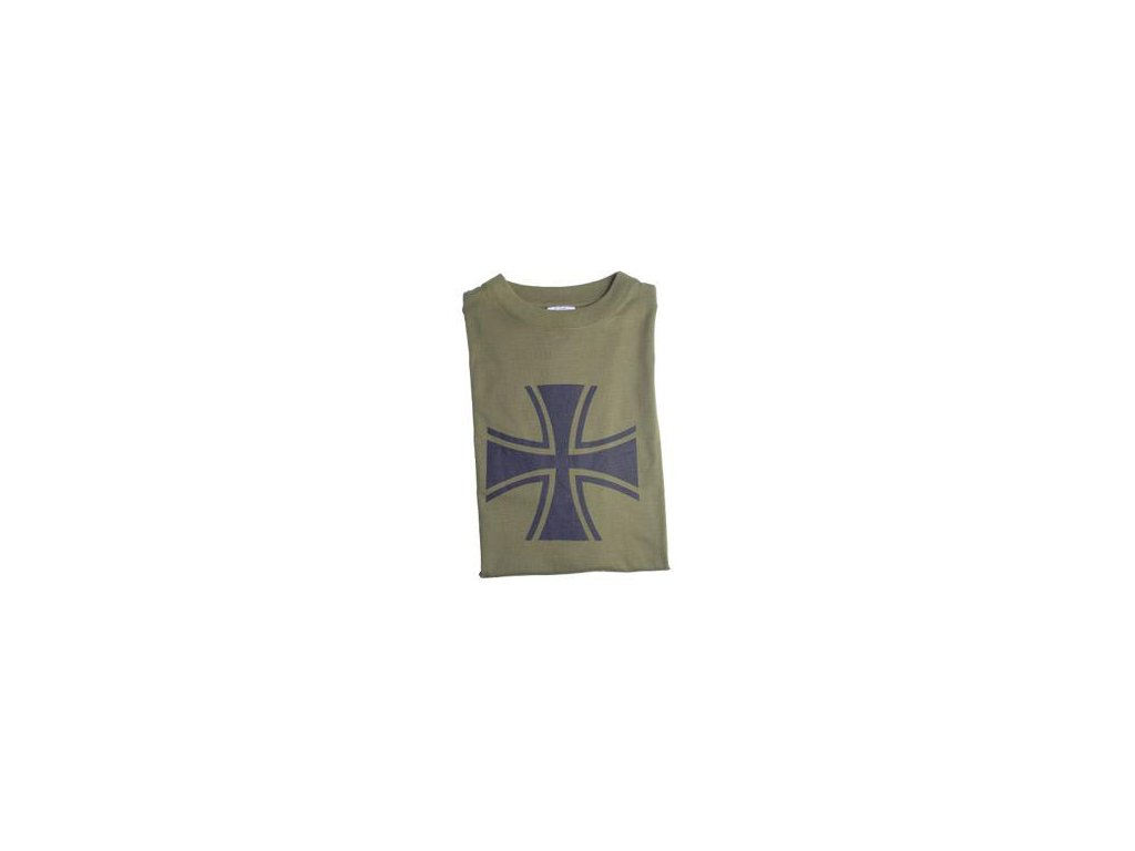 a6df07dc83c Tričko (triko) oliv potisk kříž černý Panzer Německo - ARMY-SURPLUS