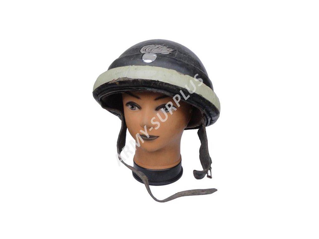 Helma (přilba) do tanku (tankistická) Itálie válečná použitá