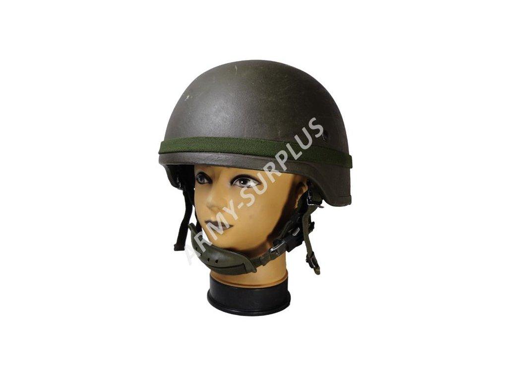 Kevlarová helma (přilba) SH00 parachutists BW oliv originál použitá