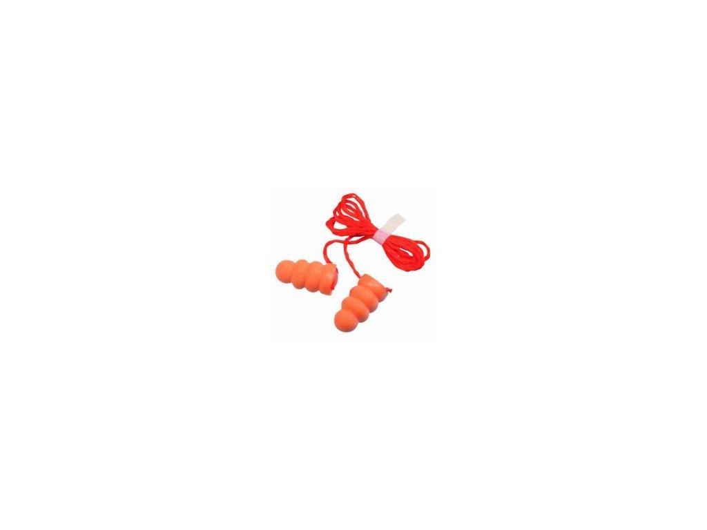 Chrániče sluchu (špunty do uší) 3M 1130 oranžové se šňůrkou