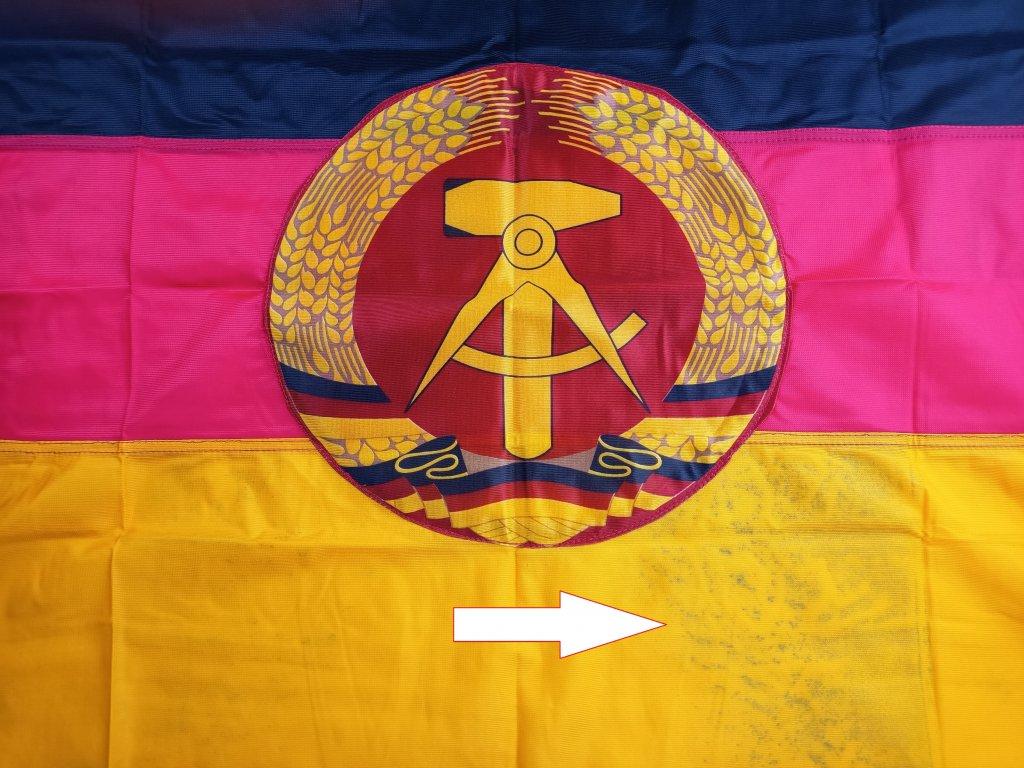 Vlajka DDR NDR originál nová 60 x 100 cm na trabanta,warburga atd.