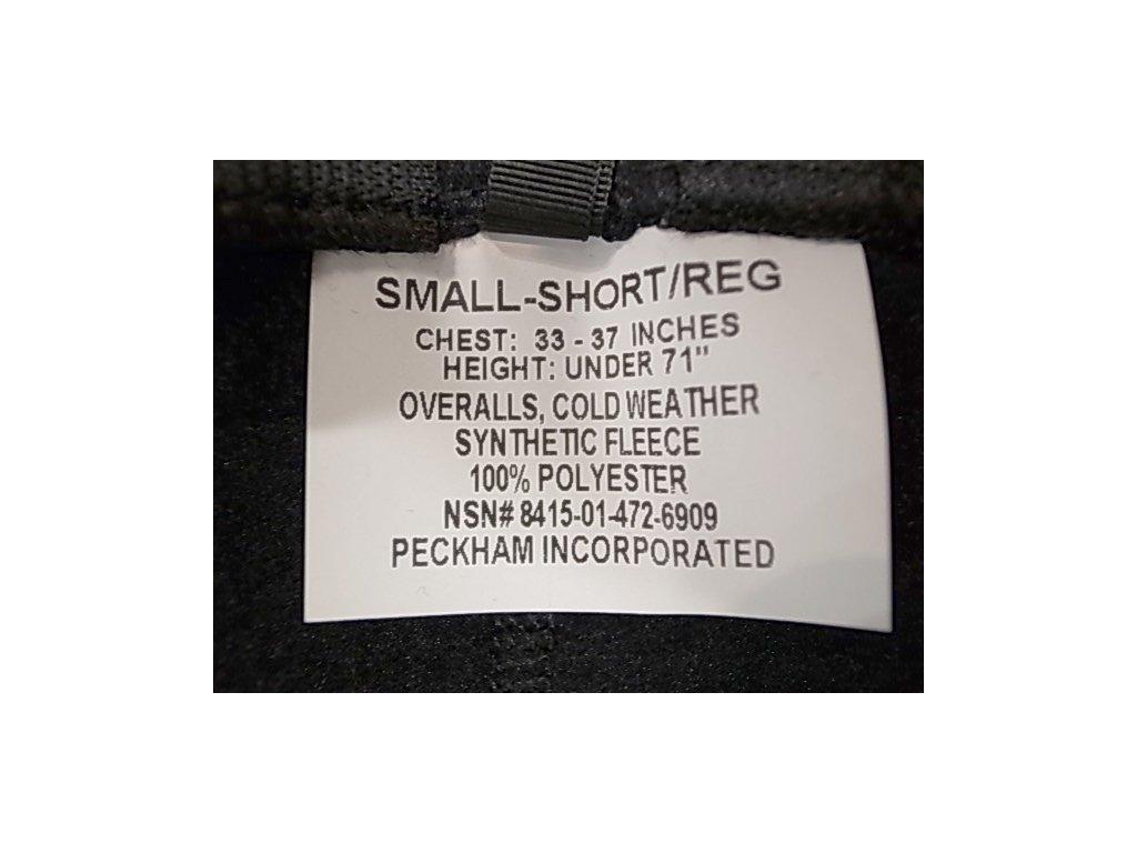 Kalhoty fleecové ECWCS US originál Polartec/Peckham Classic 200 černé