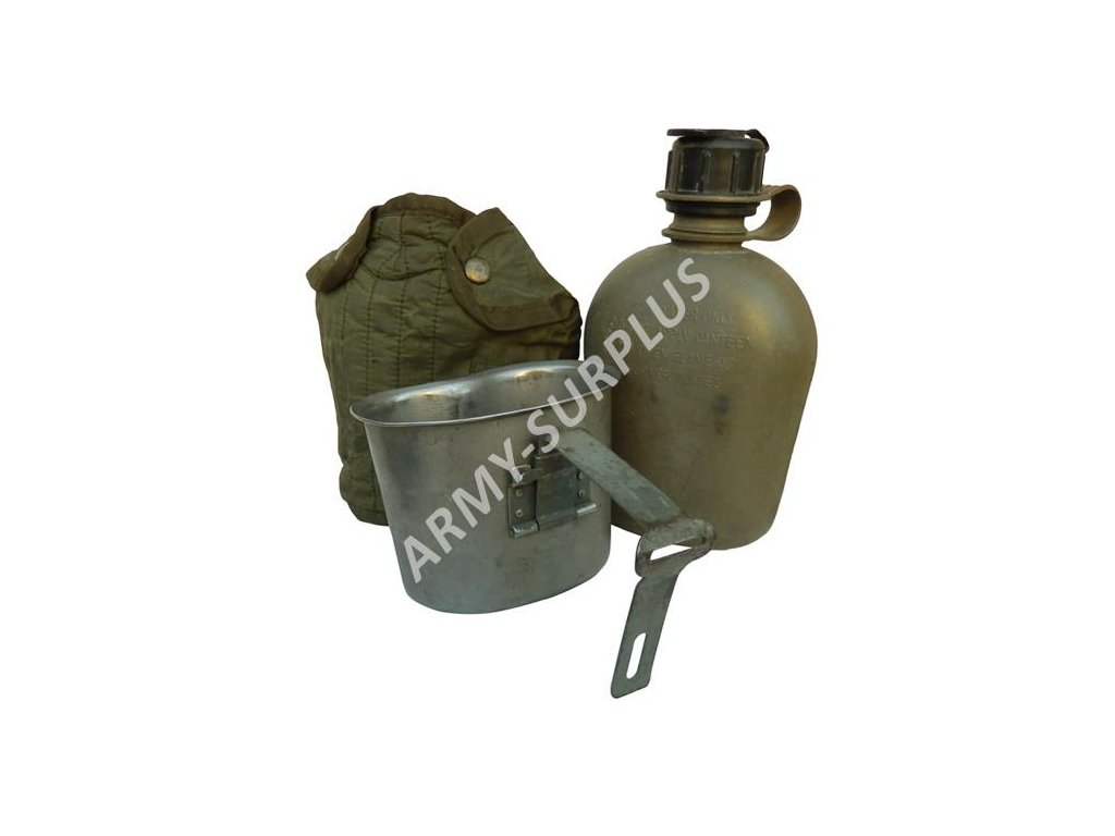 Polní láhev (čutora) US oliv Vietnam s pitítkem originál - ARMY-SURPLUS 5173760016