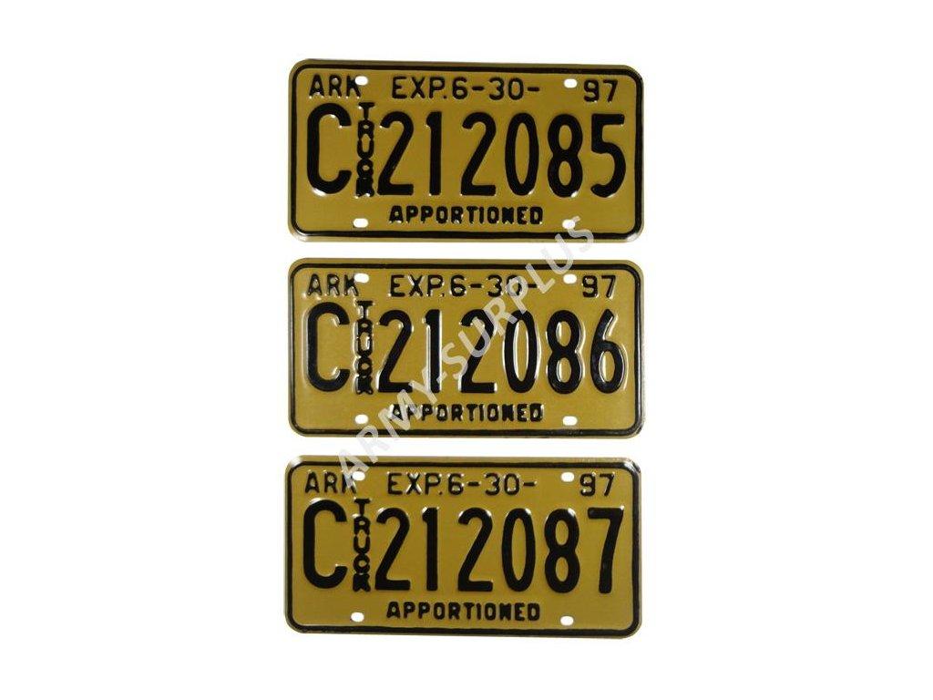 Poznávací značky na auto (License Plates) USA 1997 sada