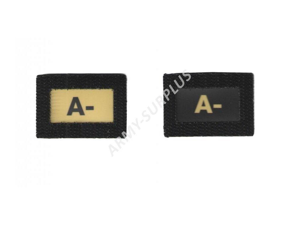 A- Glind tape - označení krevní skupiny  ALP FENIX AC-139 velcro suchý zip