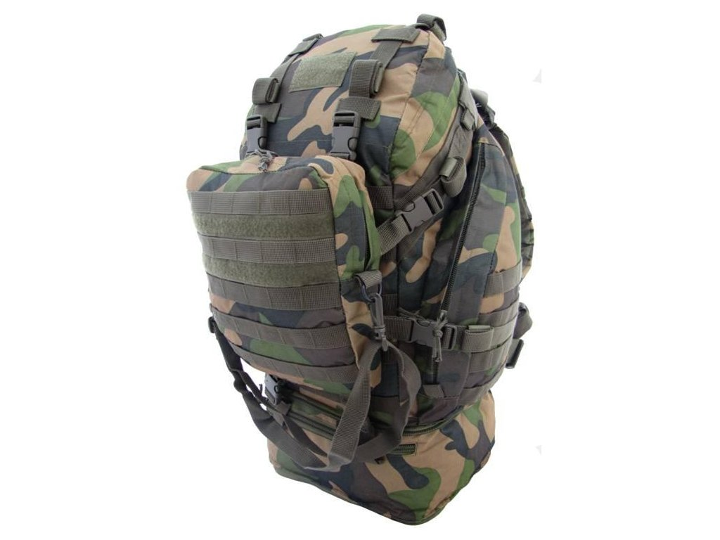 9507662c5d Batoh taktický molle OVERLOAD woodland 60L - ARMY-SURPLUS