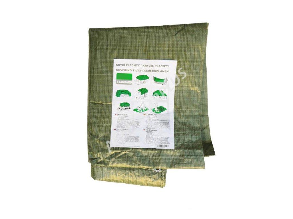 Krycí plachta multifunkční 5x8m oliv