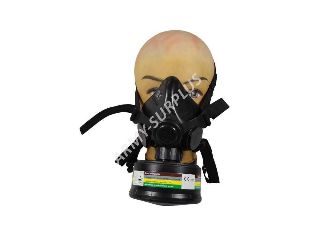 Plynová maska MASKPOL MP 21/1 respirátor použitá
