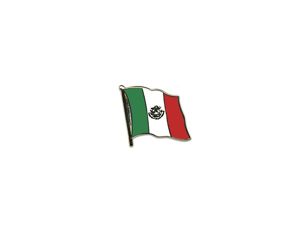 Odznak (pins) 20mm praporek Mexiko