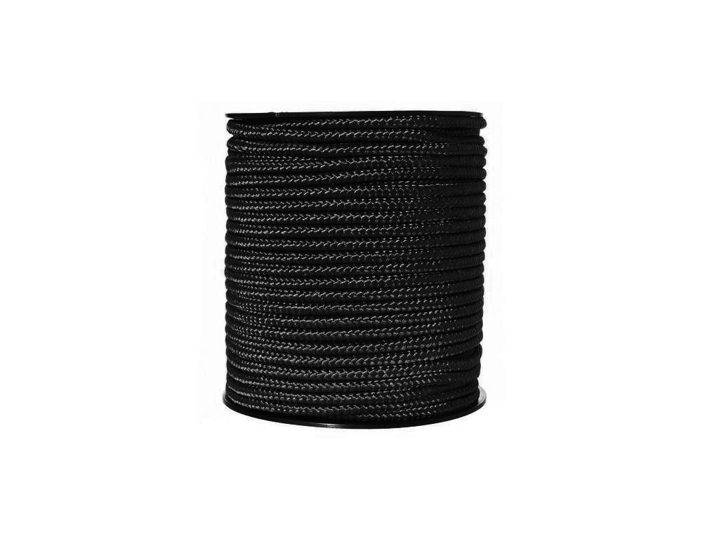 Šňůra univerzální 5mm černá 1 m