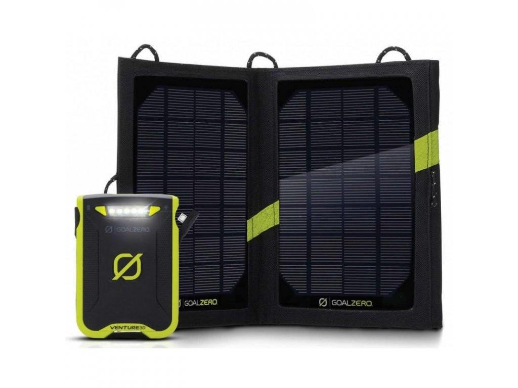 Goal Zero Venture 30 Solar + Nomad 7 Recharging Kit