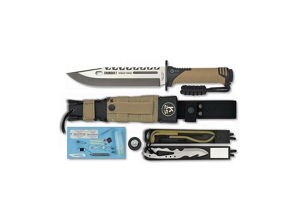 Nůž Tactical RUI Thunder I Survival  Energy coyote digital desert 32018