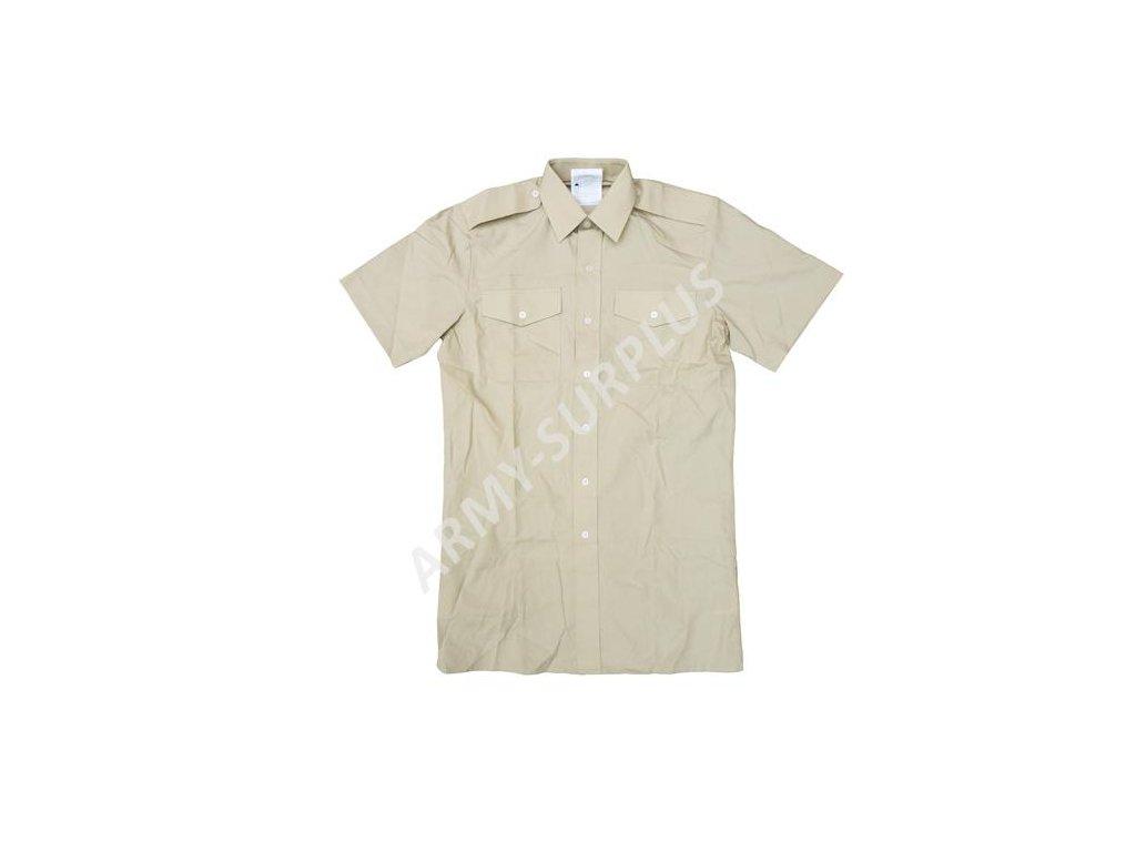 Košile Velká Británie khaki krátký rukáv originál