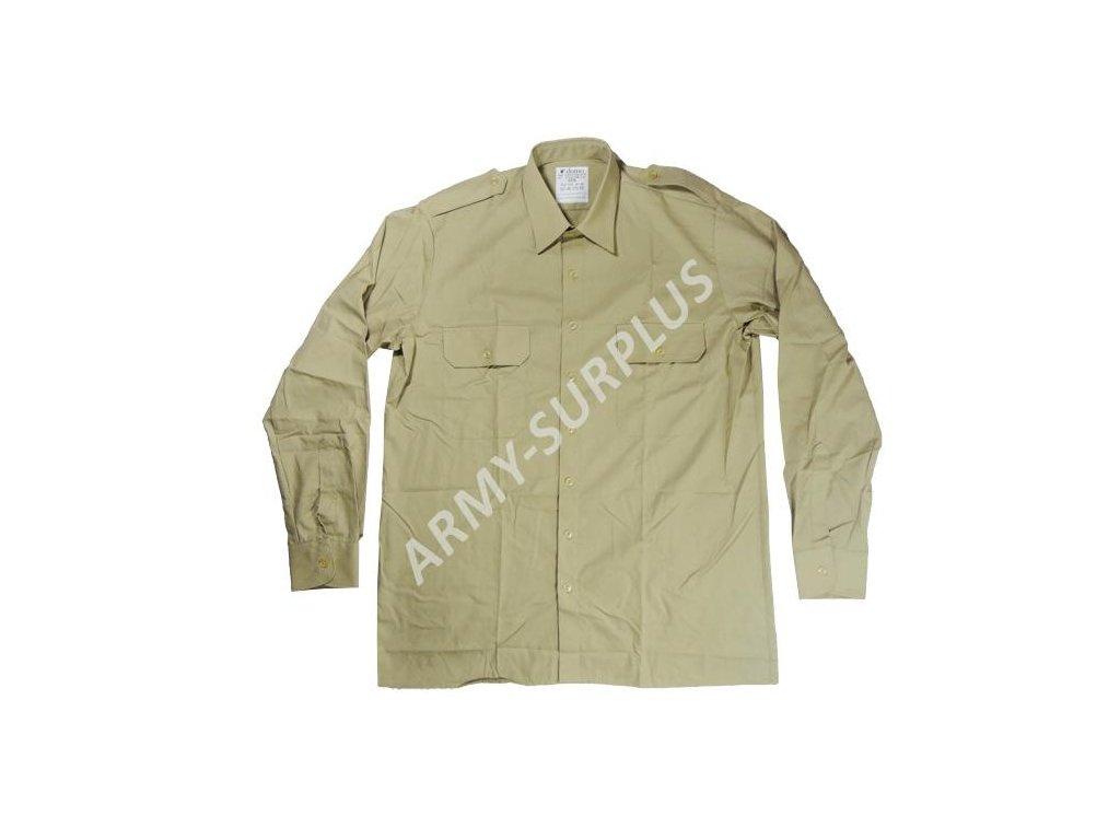 6b88972eb8b Košile Velká Británie khaki krátký rukáv originál - ARMY-SURPLUS
