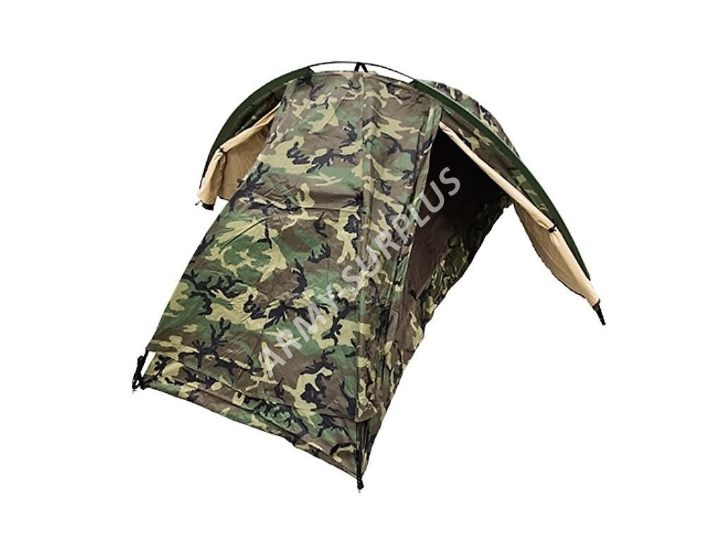 Stan US / USMC Marine Combat Infantry Tent Eureka coyote/woodland dvouplášťový originál