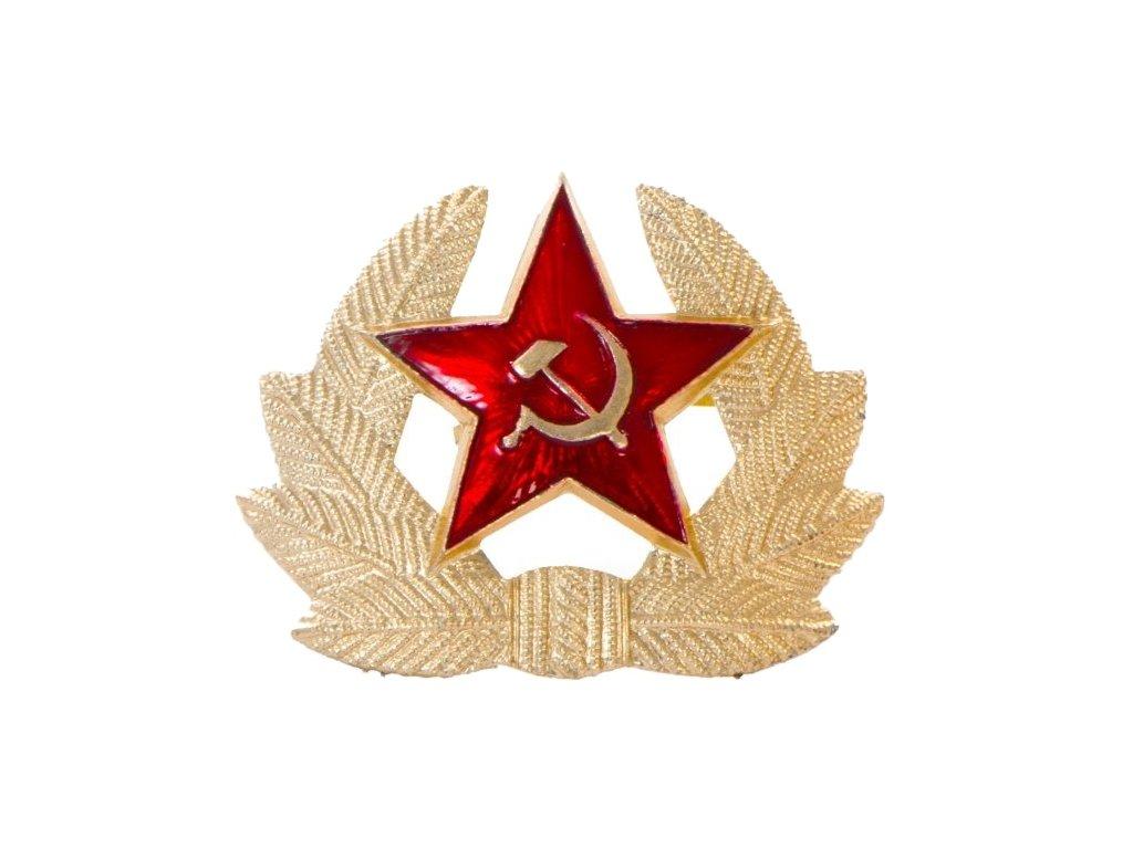 Odznak hvězda s okružím na čepici Rusko
