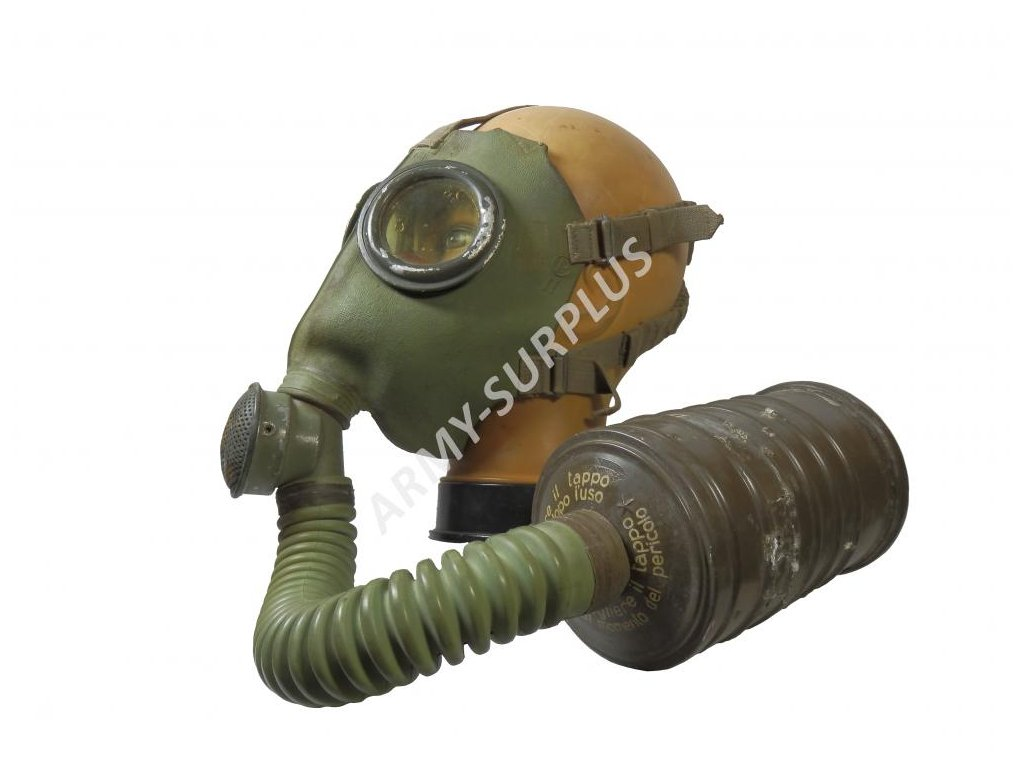 Plynová maska Pirelli M 33 Italie 1933