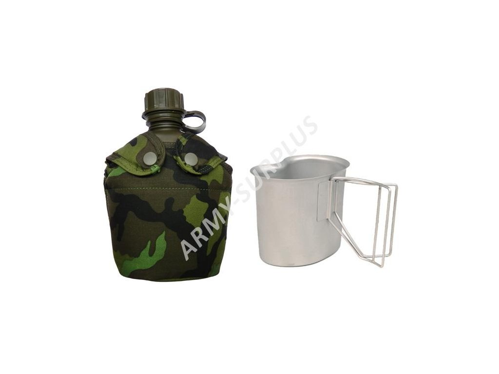 Polní láhev MNS AČR souprava (čutora, obal,pitítko) SPM vz.95 ripstop
