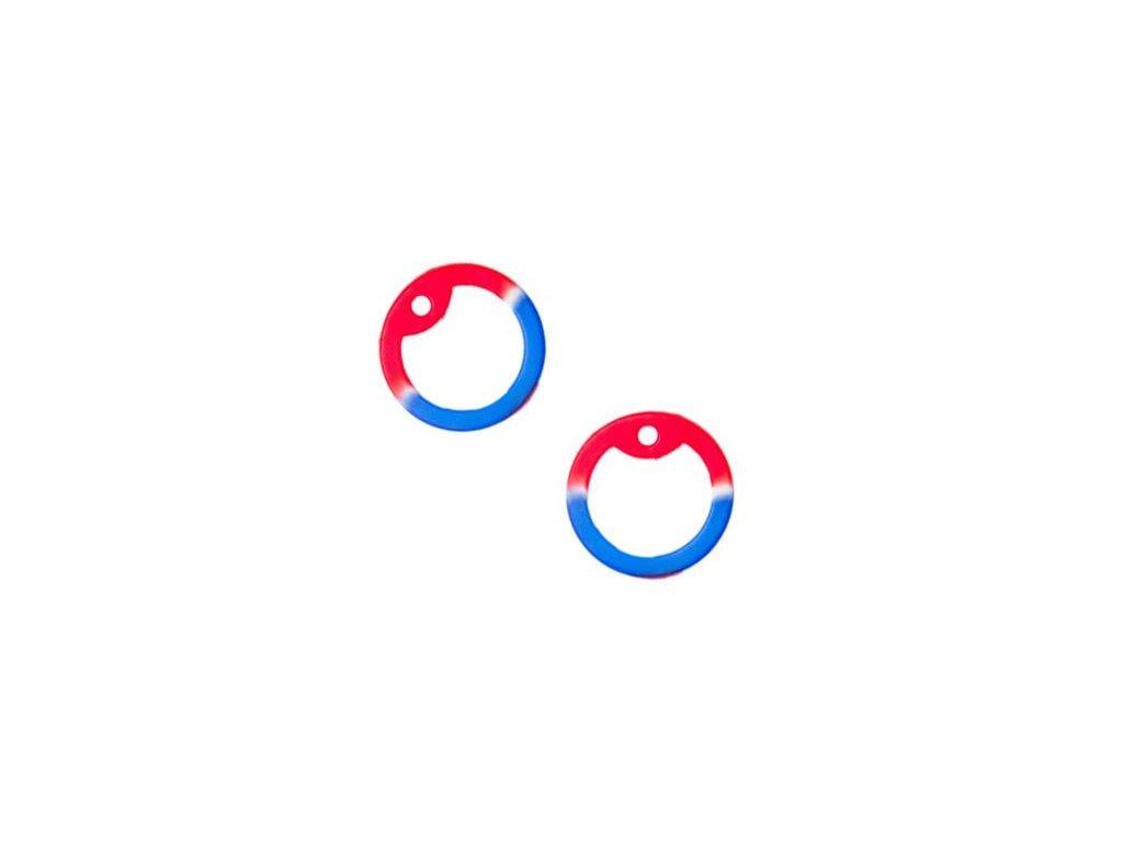 Gumička (tlumítka) silikonová k U.S. DOG TAGS modrá/bílá/červená 1ks