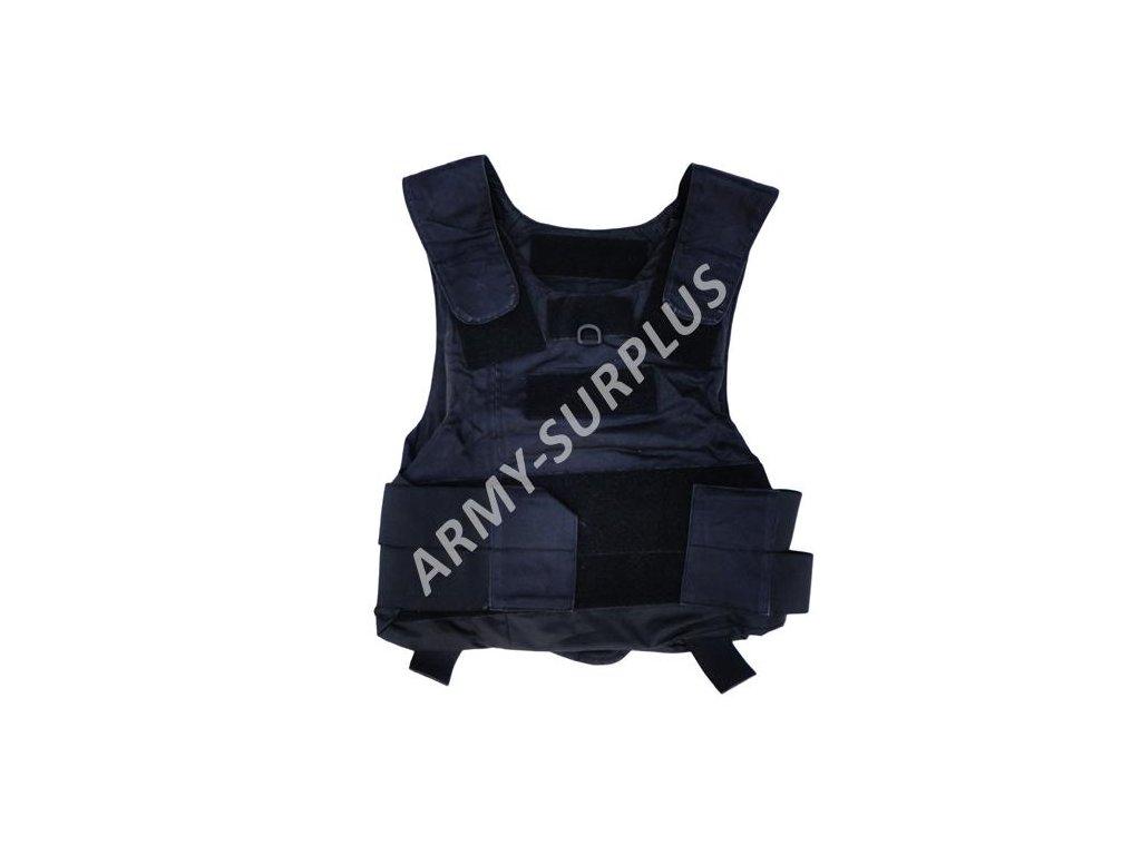 Taktická vesta neprůstřelná černá bez balistické vložky Velká Británie velcro