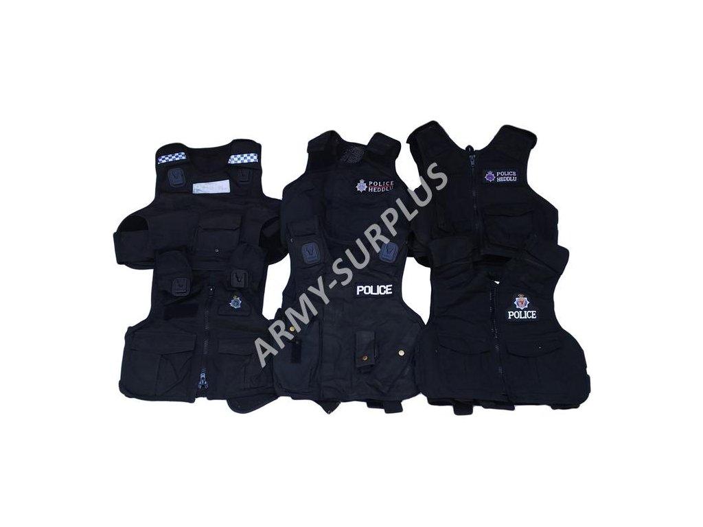 Taktická vesta Policie Velká Británie britská černá originál