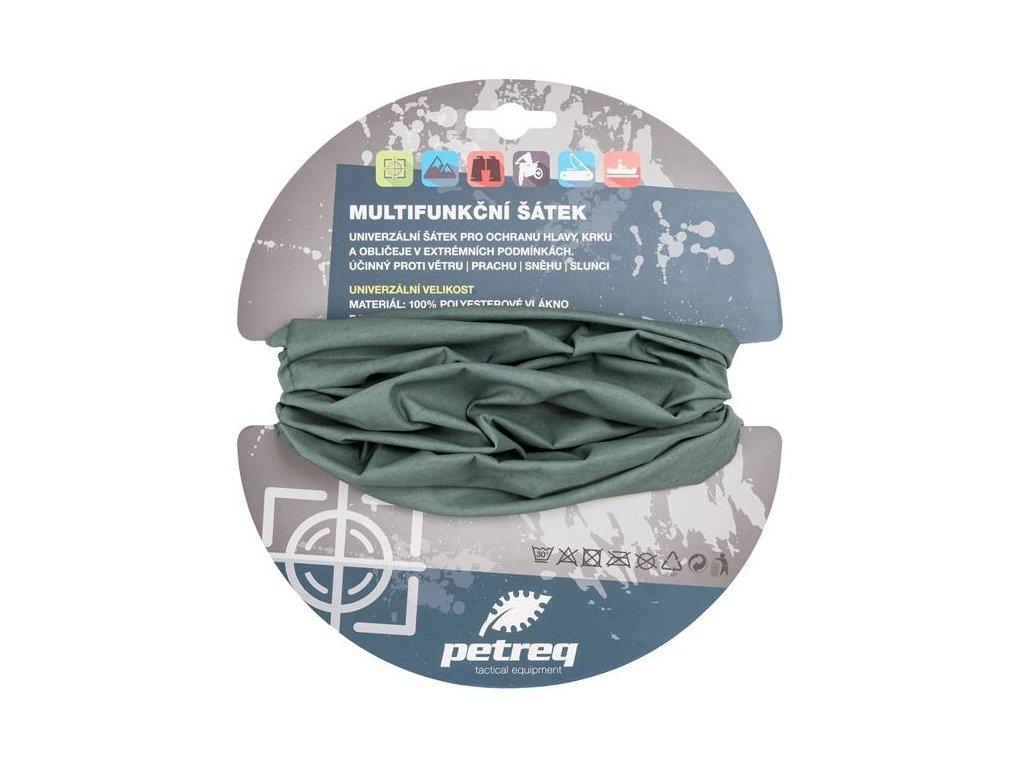 Nákrčník (šátek) multifunkční šedý foliage