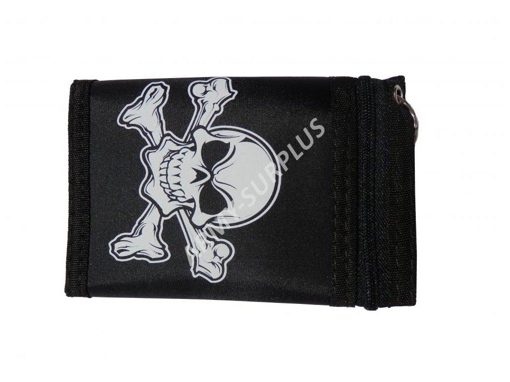 Peněženka skládací lebka pirát