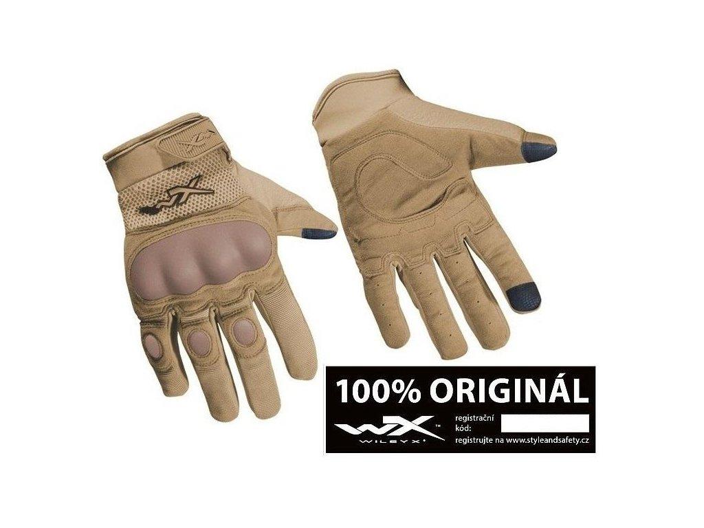 Taktické rukavice Wiley X Durtac SmartTouch  Tan Coyote originál
